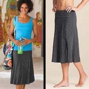 Athleta Skinny Shadow Stripe Midi Skirt small